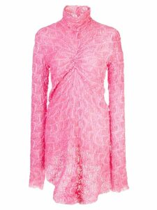 Sies Marjan Willie lace ruched top - PINK