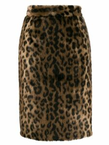 Nº21 leopard pattern skirt - Brown