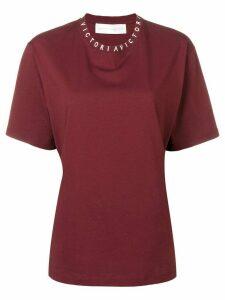 Victoria Victoria Beckham logo T-shirt - Red