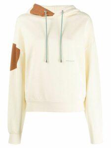Eckhaus Latta geometric-print hoodie - Yellow
