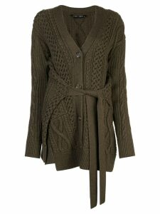 Proenza Schouler Cable Knit Robe Cardigan - Green