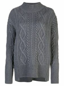 Proenza Schouler Cable Knit Turtleneck - Grey