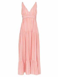 lemlem Taytu plunge-neck striped sundress - PINK