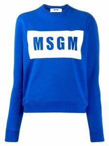 MSGM logo sweatshirt - Blue