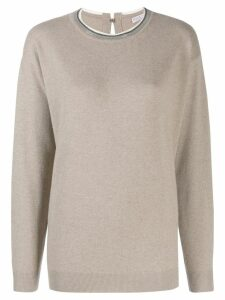Brunello Cucinelli bead-embellished jumper - NEUTRALS