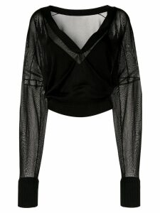 Dion Lee Interlocks double cardigan - Black