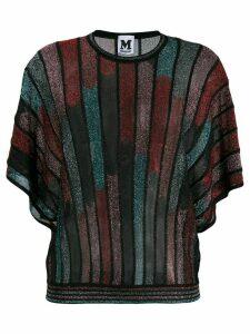 M Missoni knitted batwing sleeves top - Black