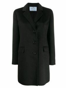 Prada classic single breasted coat - Black