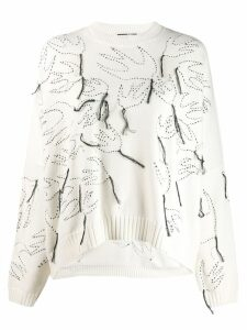 McQ Alexander McQueen fringe swallow sweater - White