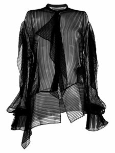 Roland Mouret frilled longsleeved blouse - Black