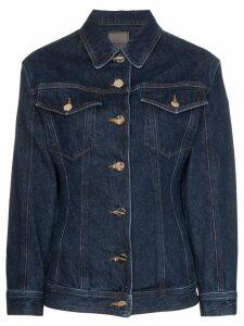 GOLDSIGN fitted-waist denim jacket - Blue