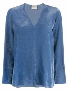 Forte Forte V-neck ribbed sweatshirt - Blue