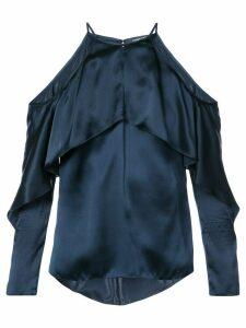 Cushnie Florence cold-shoulder blouse - Blue