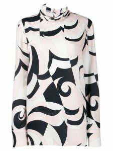 Emilio Pucci geometric pattern blouse - White
