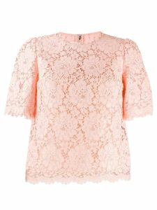 Dolce & Gabbana scalloped lace blouse - PINK