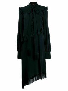 Rokh ruffle trim dress - Black