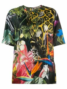 Roberto Cavalli Tropical print T-shirt - Green
