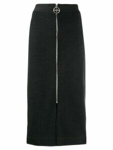 Givenchy front zip pencil skirt - Grey