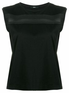 Diesel sleeveless top with knitted tape - Black
