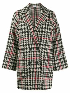 Red Valentino double breasted houndstooth coat