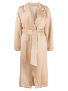 Forte Forte belted wrap coat - Neutrals