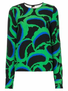Marni abstract print top - Black