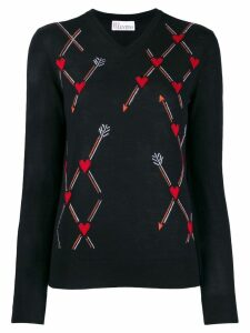 Red Valentino cupid arrow jumper - Black