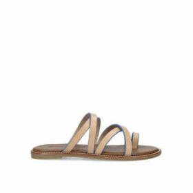 Kurt Geiger London Millie - Tan And Blue Flat Sandals