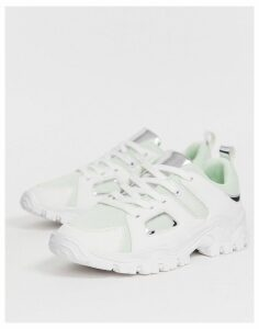 ASOS DESIGN Direct chunky trainers in green and white-Grey