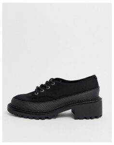 ASOS DESIGN Mix Up mudguard lace up flat shoe in black