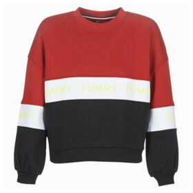 Tommy Jeans  TJW COLORBLOCK SWEAT  women's Sweatshirt in Red