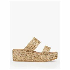 L.K.Bennett Willa Woven Flatform Sandals, Natural