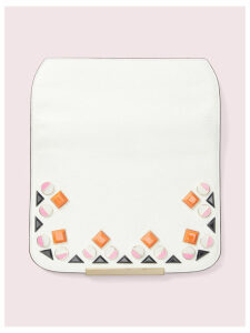 Make It Mine Margaux Jeweled Flap - Optic White - One Size