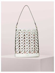 Dorie Medium Bucket Bag - Optic White - One Size