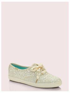 Keds X Kate Spade New York Glitter Sneakers - Cream - 3 (Us 5.5)