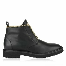 GIUSEPPE ZANOTTI Tyson Leather Lace Up Boots