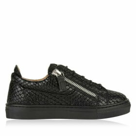 GIUSEPPE ZANOTTI Children Unisex London Python May Low Top Trainers