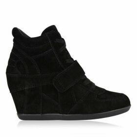 ASH Bowie Softy High Top Wedge Suede Trainers
