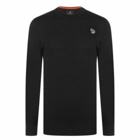 PS by Paul Smith Paul Zebra Crew Knitted Jumper Mens