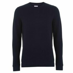 Linea Forston Ribbed Crew Sweater Mens