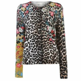 Oui Leopard Print Cardigan Ladies