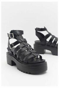 Womens Fisherman Chunky Cleated Sandal - Black - 7, Black