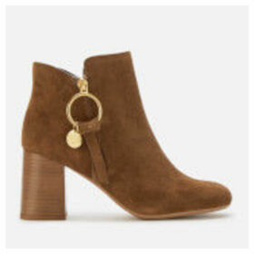 See By Chloé Women's Suede Heeled Ankle Boots - Savana