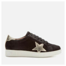 Dune Women's Edris Leather Low Top Trainers - Black
