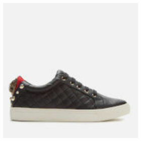 Kurt Geiger London Women's Ludo Leather Quilted Low Top Trainers - Black - UK 6
