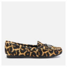 MICHAEL MICHAEL KORS Women's Sutton Leopard Moc Flats - Natural - UK 7/US 10 - Tan