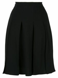 Chanel Pre-Owned pleated long skirt - Black