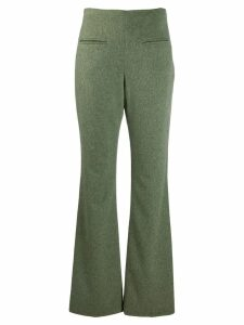 Jean Louis Scherrer Pre-Owned 1990's flared trousers - Green