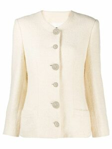 Versace Pre-Owned 1980's fitted jacket - White