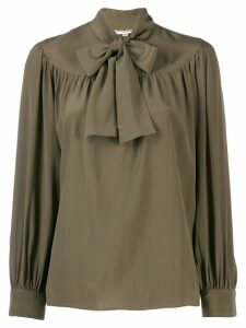Yves Saint Laurent Pre-Owned 1970's pussy-bow blouse - Green
